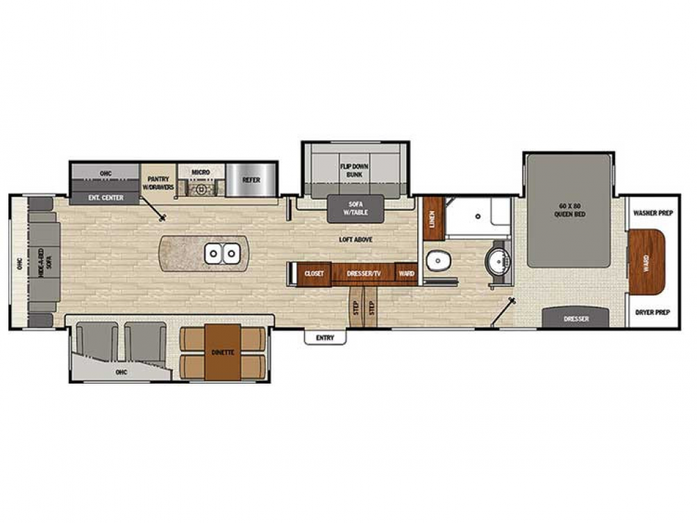 2019 Brookstone 395RL Floor Plan Img