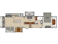 2019 Brookstone 395RL Floor Plan