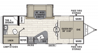 2019 Freedom Express Liberty Edition 231RBDS Floor Plan
