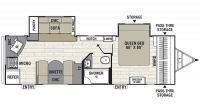 2019 Freedom Express Liberty Edition 276RKDS Floor Plan