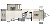 2019 Freedom Express Liberty Edition 279RLDS Floor Plan