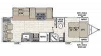 2019 Freedom Express Liberty Edition 281RLDS Floor Plan