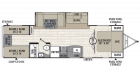 2019 Freedom Express Liberty Edition 292BHDS Floor Plan