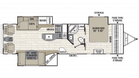 2019 Freedom Express Liberty Edition 293RLDS Floor Plan