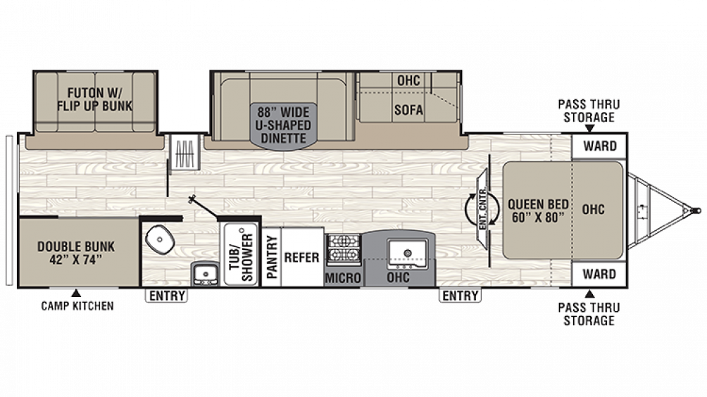 2018 Freedom Express Liberty Edition 310BHDS Floor Plan Img