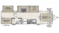 2019 Freedom Express Liberty Edition 310BHDS Floor Plan