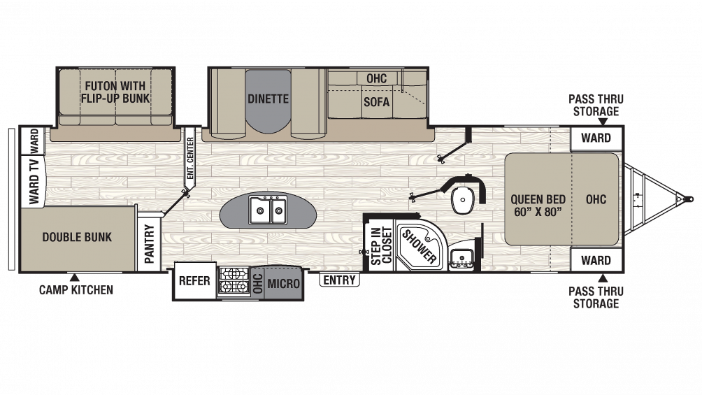 2018 Freedom Express Liberty Edition 320BHDS Floor Plan Img