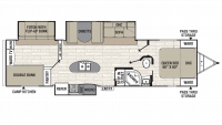 2019 Freedom Express Liberty Edition 320BHDS Floor Plan