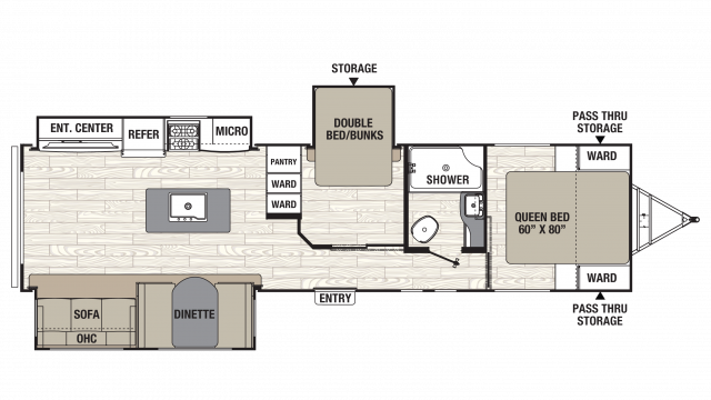 2018 Freedom Express Liberty Edition 323BHDS Floor Plan