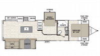 2019 Freedom Express Liberty Edition 323BHDS Floor Plan