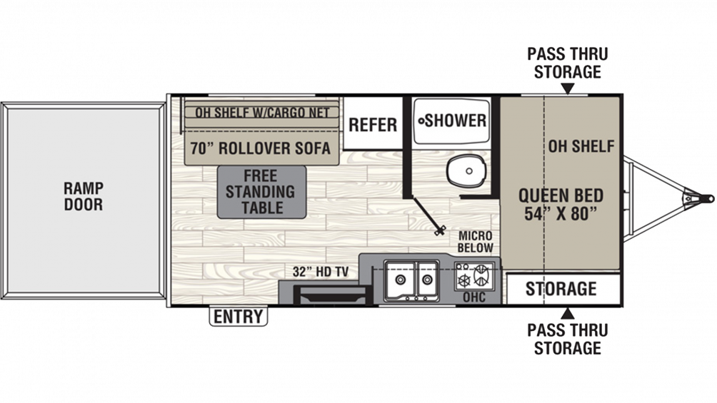 2019 Freedom Express Select 17BLSE Floor Plan Img