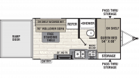 2019 Freedom Express Select 17BLSE Floor Plan