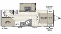 2019 Freedom Express Select 25SE Floor Plan
