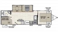 2019 Freedom Express Select 28.7SE Floor Plan