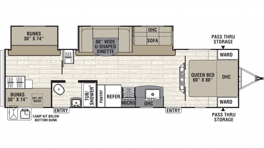 2019 Freedom Express Select 31SE Floor Plan Img