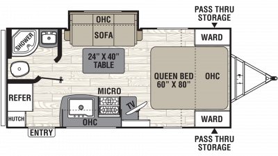 2019 Freedom Express Ultra Lite 192RBS Floor Plan Img