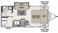 2019 Freedom Express Ultra Lite 192RBS Floor Plan