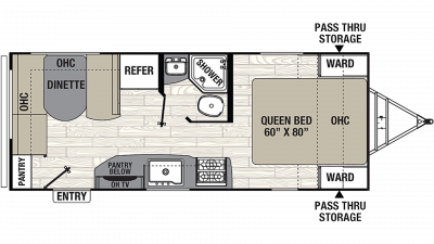 2019 Freedom Express Ultra Lite 204RD Floor Plan Img