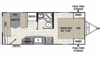 2019 Freedom Express Ultra Lite 204RD Floor Plan