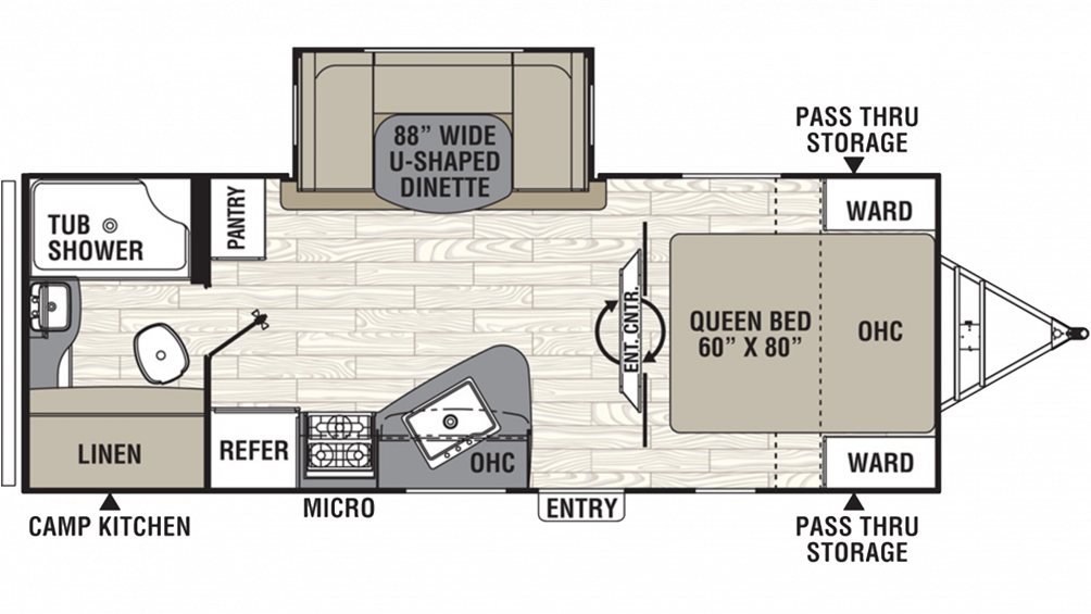 2019 Freedom Express Ultra Lite 231RBDS Floor Plan Img