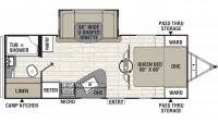 2019 Freedom Express Ultra Lite 231RBDS Floor Plan