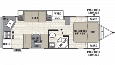 2019 Freedom Express Ultra Lite 246RKS Floor Plan Img