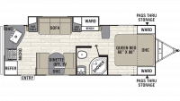 2019 Freedom Express Ultra Lite 246RKS Floor Plan
