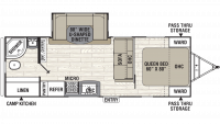2019 Freedom Express Ultra Lite 248RBS Floor Plan