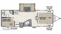 2019 Freedom Express Ultra Lite 257BHS Floor Plan