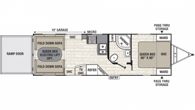 2019 Freedom Express Ultra Lite 271BL Floor Plan Img