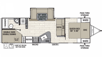 2019 Freedom Express Ultra Lite 275BHS Floor Plan Img