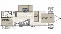 2019 Freedom Express Ultra Lite 275BHS Floor Plan