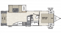 2019 Freedom Express Ultra Lite 279RLDS Floor Plan