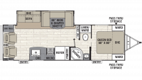 2019 Freedom Express Ultra Lite 281RLDS Floor Plan
