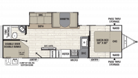 2019 Freedom Express Ultra Lite 287BHDS Floor Plan