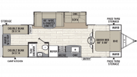 2019 Freedom Express Ultra Lite 292BHDS Floor Plan