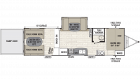 2019 Freedom Express Ultra Lite 301BLDS Floor Plan
