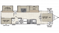 2019 Freedom Express Ultra Lite 310BHDS Floor Plan