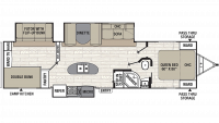 2019 Freedom Express Ultra Lite 320BHDS Floor Plan