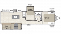 2019 Freedom Express Ultra Lite 323BHDS Floor Plan