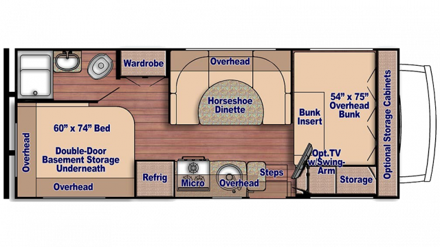 2020 Conquest 6237 Floor Plan