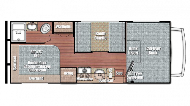 2020 Conquest 6237LE Floor Plan