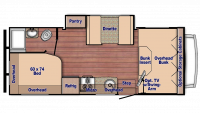 2020 Conquest 6238 Floor Plan
