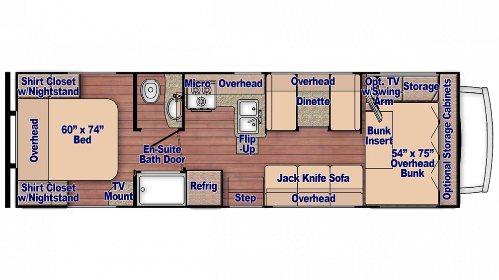 Conquest 6280 Floor Plan - 2018