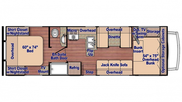 2020 Conquest 6280 Floor Plan
