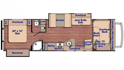 Conquest 6317 Floor Plan - 2018