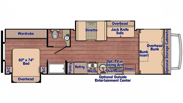 2019 Conquest 6320 Floor Plan