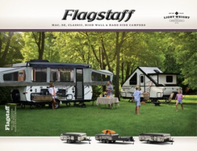 2017 Forest River Flagstaff High Wall RV Brand Brochure Cover