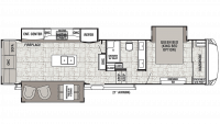 2019 Cedar Creek 34IK Floor Plan