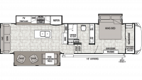 2019 Cedar Creek 34RL2 Floor Plan